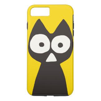 Yellow Black Triangle Symbolic Cat iPhone 7 Plus Case