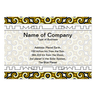 Yellow Black White Waves Big Pack Of Chubby Business Cards