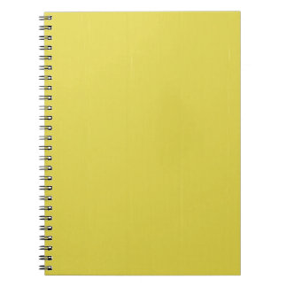 Yellow Blank Plain DIY template add text photo Spiral Note Book