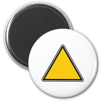 Yellow Blank Sign 6 Cm Round Magnet
