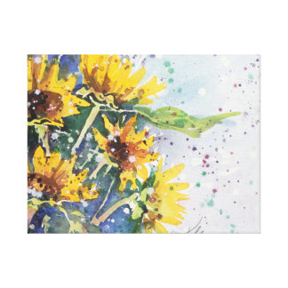 Yellow Blast -- Black Eye Susan Canvas Print