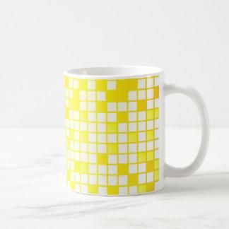 Yellow Blocks Basic White Mug