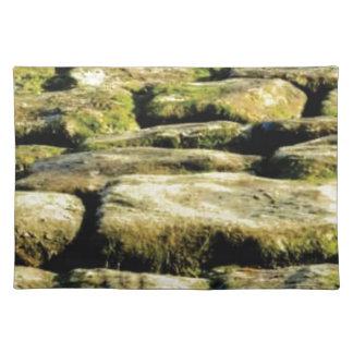 yellow blocks of rock placemat
