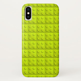 Yellow blocks pattern iPhone x case