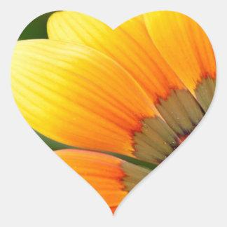 Yellow Bloom Heart Sticker