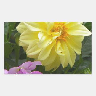 yellow bloom rectangular sticker