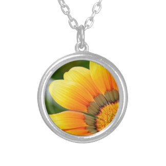 Yellow Bloom Silver Plated Necklace