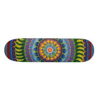 Yellow & Blue #1 Mandala Skate Deck