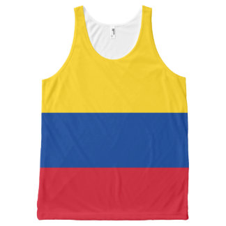 Yellow Blue and Red Flag of Colombia Tanktop All-Over Print Tank Top