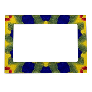Yellow Blue and Red Mandala Magnet Photo Frame Magnetic Frames