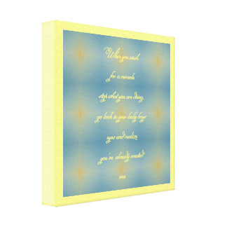 Yellow Blue Baby Boy quote Canvas Print
