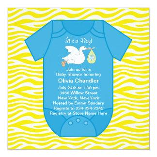 Yellow Blue Baby Boy Shower Invitations