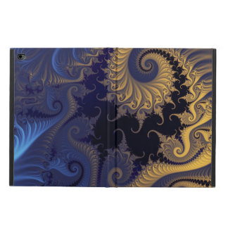 Yellow blue black swirls fractal