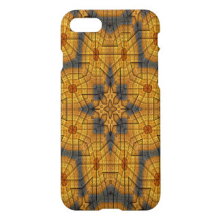 yellow blue block abstract pattern iPhone 8/7 case