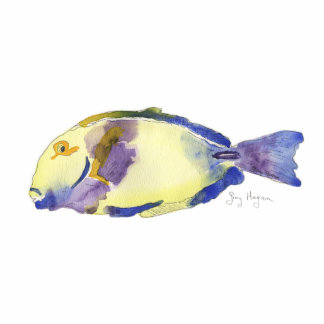 Yellow/Blue Fish Photo Sculpture