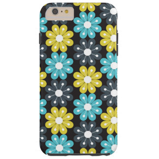 Yellow blue flowers pattern iPhone Case