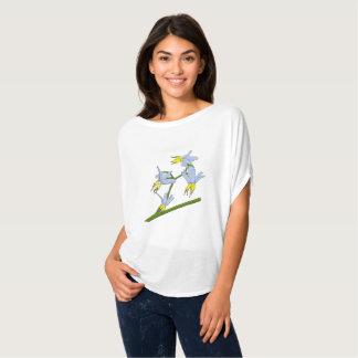 Yellow Blue Grass Flowers T-Shirt