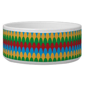 Yellow Blue Green & Red Geometric Scallops