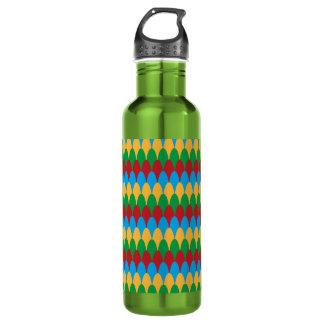 Yellow Blue Green & Red Geometric Scallops 710 Ml Water Bottle