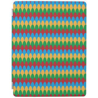 Yellow Blue Green & Red Geometric Scallops iPad Cover