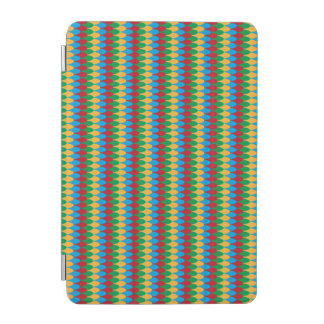 Yellow Blue Green & Red Geometric Scallops iPad Mini Cover