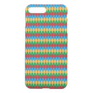 Yellow Blue Green & Red Geometric Scallops iPhone 8 Plus/7 Plus Case