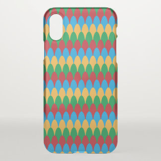 Yellow Blue Green & Red Geometric Scallops iPhone X Case