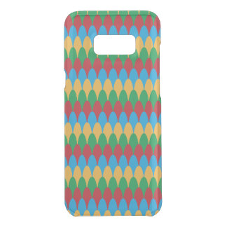 Yellow Blue Green & Red Geometric Scallops Uncommon Samsung Galaxy S8 Plus Case