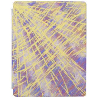 Yellow Blue Orange Abstract Art Lattice Design iPad Cover