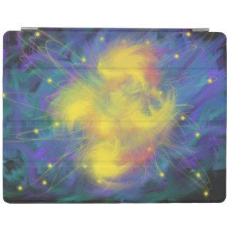 Yellow Blue Orange Star Orbit Abstract Art Design iPad Cover