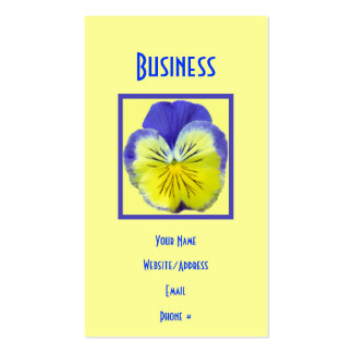 Yellow Blue Pansy Business Cards