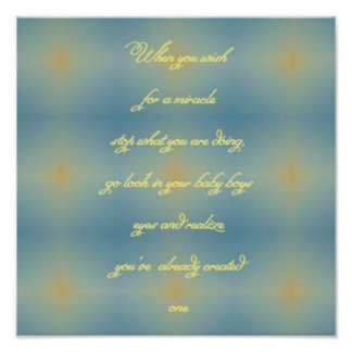 Yellow Blue Pattern  Miracle of Baby Boy Quote Poster