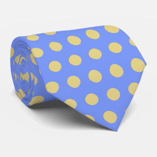 Yellow Blue Polka Dot Tie