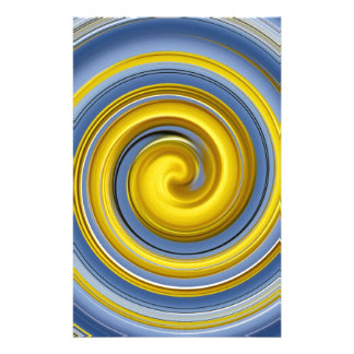 Yellow-blue spiral sample customized stationery