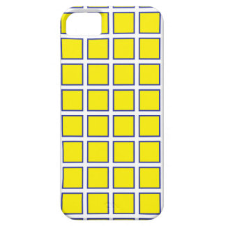 Yellow Blue Squares iPhone 5 Cases