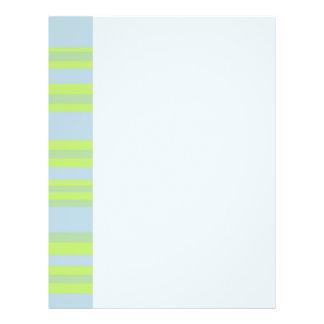 yellow blue striped 21.5 cm x 28 cm flyer