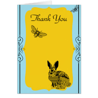Yellow Blue Thank You Card