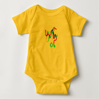 Yellow Body Suit ~~ Yoga Girl Baby Bodysuit