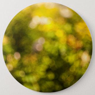 Yellow bokeh 6 cm round badge
