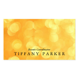 Yellow Bokeh Pack Of Standard Business Cards