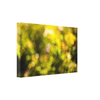 Yellow bokeh canvas print