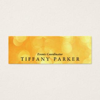 Yellow Bokeh Mini Business Card