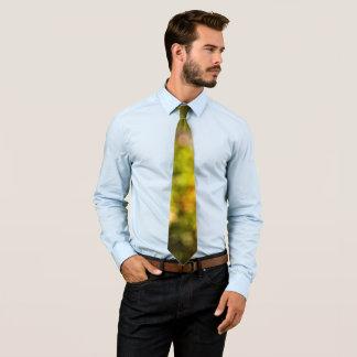 Yellow bokeh tie