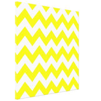 Yellow Bold Chevron at Emporio Moffa Stretched Canvas Prints