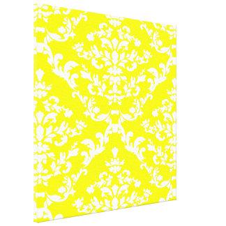 Yellow Bold Damask @ Emporiomoffa Canvas Print