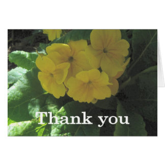 Yellow bouquet Thank you Cards