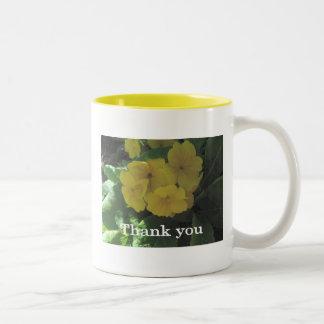 """Yellow bouquet  """"Thank you"""" Mug"""