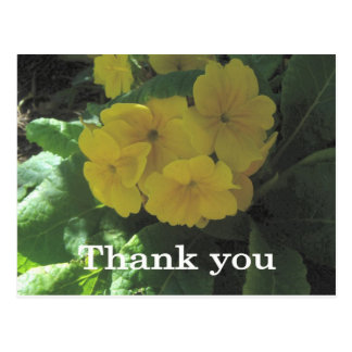 Yellow bouquet Thank you Postcard