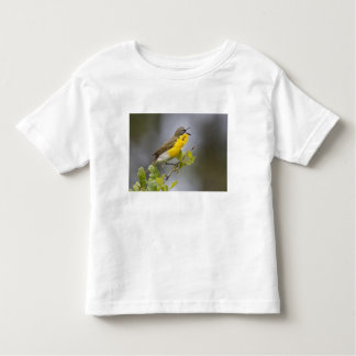 Yellow-breasted Chat (Icteria virens) singing on Toddler T-Shirt