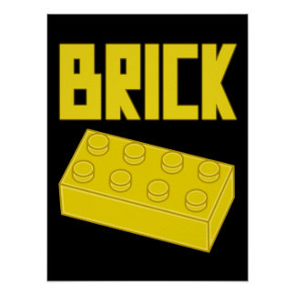 Yellow Brick by Customize My Minifig Poster